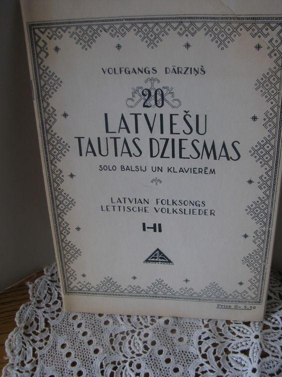 Volfgangs Darzins 20 Latviesu Tautas Dziesmas Book by ScrapPantry, $60.00 USD
