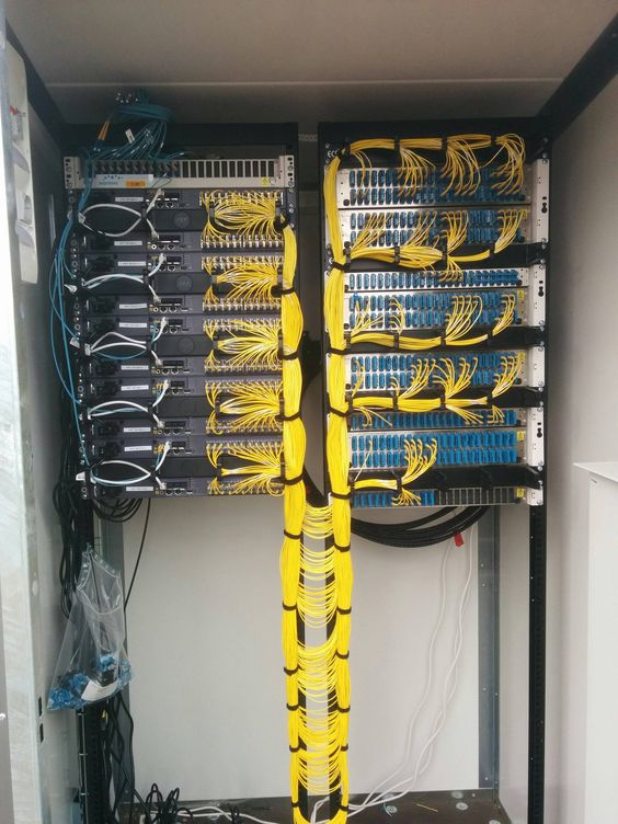 Super Neat Fiber Optic Installation Cable Management