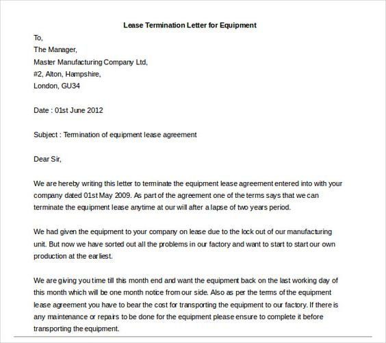 letter of termination resignation letter sample word doc download