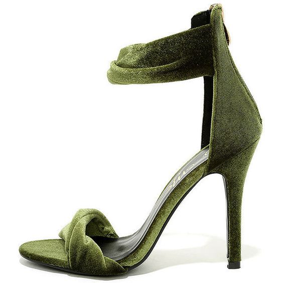 Ankle strap heels, Strap heels and Green high heels on Pinterest