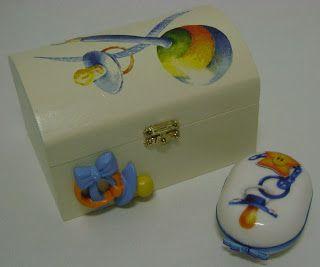Caixa e sabonete de bebé