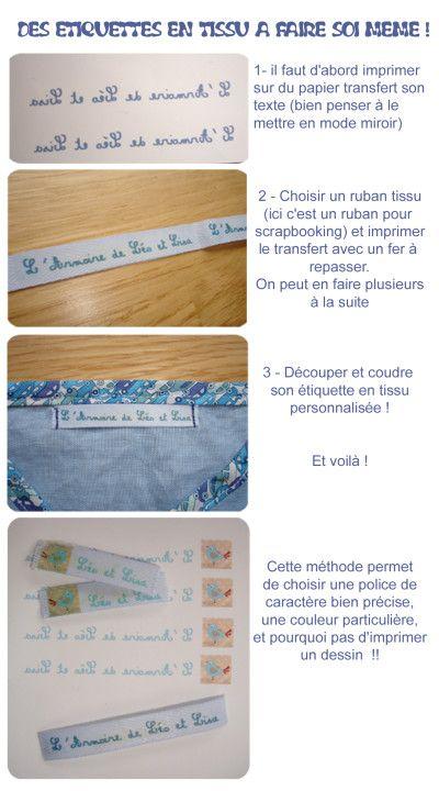 Faire soi même ses étiquettes en tissu : facile ! - L'armoire de Léo et Lisa, un blog de maman
