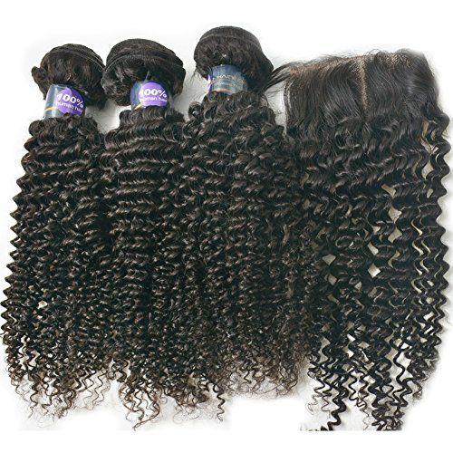 Moresoo Ondules kinky curl Tissage 10 pouces/25cm (300gram) and 10 pouces Closure (4*4 pouces), Bresilien Cheveux Naturel Vierge Remy Pour Fabriquer Une Perruque Moresoo https://www.amazon.fr/dp/B01DDDJIP8/ref=cm_sw_r_pi_dp_HOBdxb38T1DPQ