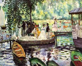 favorite impressionism painting!! la grenouillere-renoir