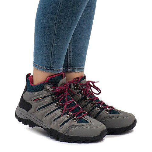 Szare Damskie Buty Trekkingowe Fs302 33 Czarne Hiking Boots Shoes Boots