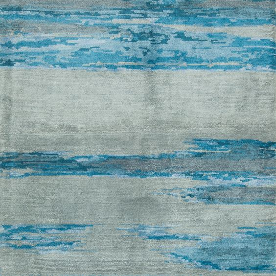 S11856-silk-hand-knotted-cut-pile-modern-abstract-grey-blue-dlb