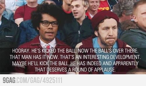 How I feel watching some sports... #itcrowd