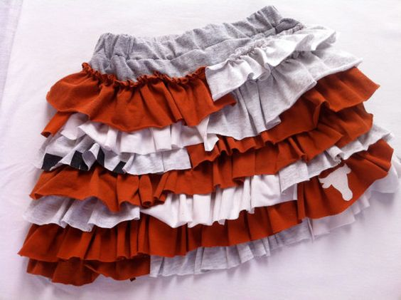 Texas Longhorn  upcycled knit ruffle twirl skirt by laurinmuller, $28.00
