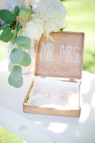 Adorable way to display wedding rings: http://www.stylemepretty.com/little-black-book-blog/2014/09/23/czech-republic-bohemian-barn-wedding/ | Photography: Stephan Vrzala - http://www.stepanvrzala.com/: