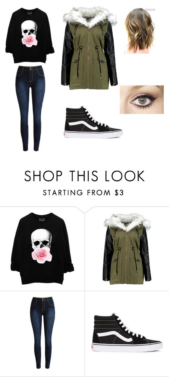 """Winter walk"" by janayam ❤ liked on Polyvore featuring Vans and Charlotte Tilbury"