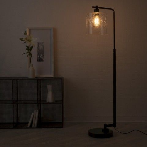 edison floor lamp threshold seeded glass industrial floor lamp. Black Bedroom Furniture Sets. Home Design Ideas