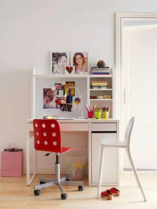 JULES Junior desk chair, pink, silver color