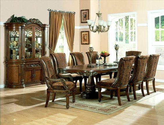 Pinterest the world s catalog of ideas for Cherry formal dining room sets