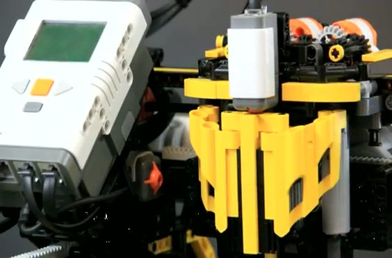 3D printer made out of legos.