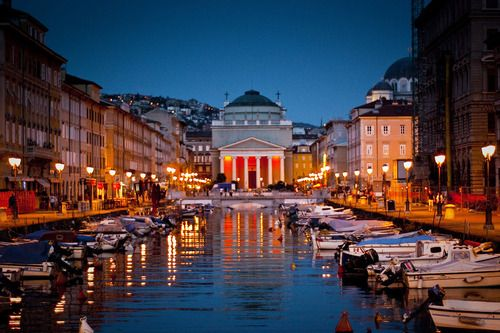 Trieste By Night Italy Travel Guide Pinterest And Italia