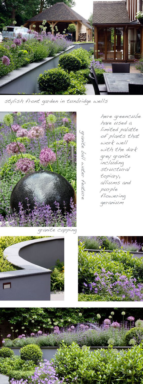 Granite ball water feature greencube garden and landscape design