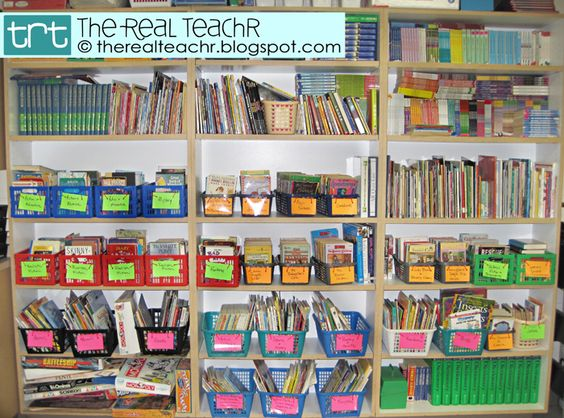 Classroom Library Idea from The Real Teachr