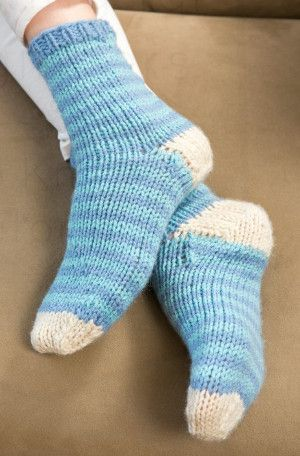Knitting Pattern For Socks In The Round : Knitting in the Round: 10 Knit Sock Patterns and Knitted Slipper Patterns K...