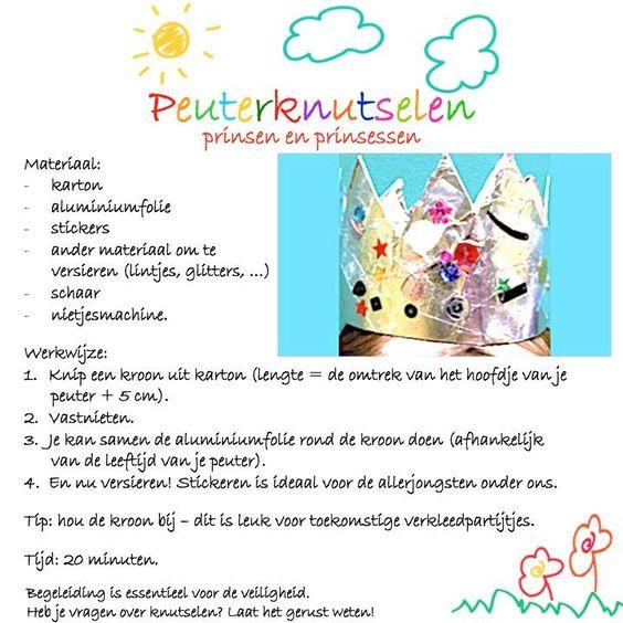 Prinsen en prinsessen - een onderwerp dat spreekt tot de verbeelding. Ideaal voor onze knutselende peuters!