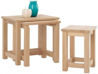 Corndell Nimbus Nest of Tables manufactured from European oak and selected oak veneers £277.40