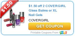 Tri Cities On A Dime: $1.50  COUPON ON 2 COVERGIRL GLOSS BALMS OR XL NAI...