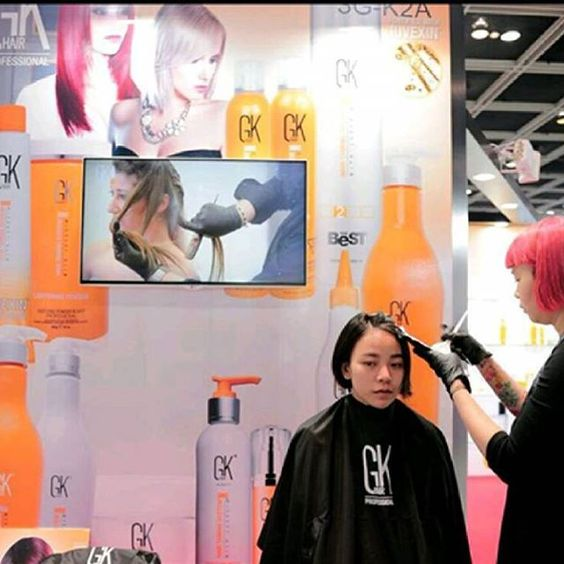 Come and say HI to #GKhair at #Cosmoprof #Asia #Hongkong November 16-18, 2016 #Juvexin #CreamColor #Haircare #Haircolor #Colortreatedhair #Shorthair #BTC #Artistatwork #ModernSalon #Beautysbest #Stylistchoice #redhair #HotonBeauty