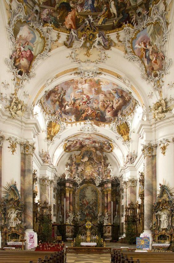 OTTOBEUREN Benedictine Kloster in Ottobeuren Germany - arch : Johann Michael FISCHER (1744-46) sculpt : FEUCHTMAYER