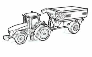 Tractor Trailer Coloring Pages