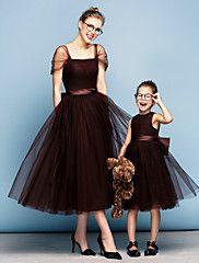 Mini Me Dress Ball Gown Square Tea-length Tull... – USD $ 129.99