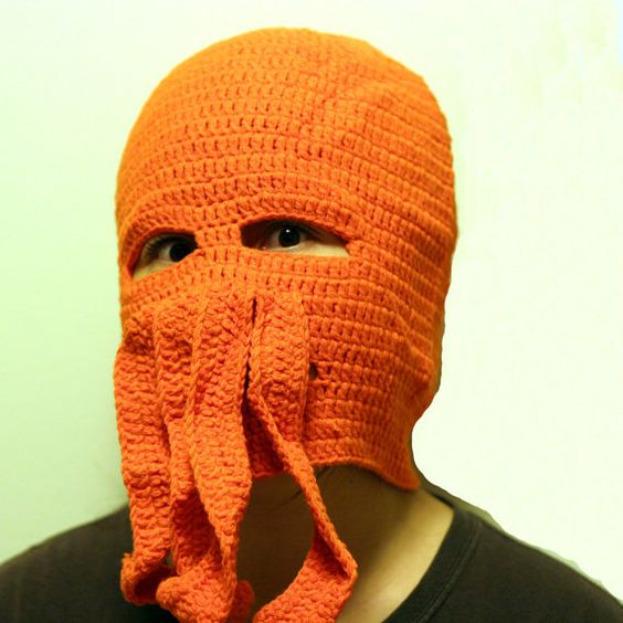 ~ knitted zoidberg hat... Etsy is a strange, wonderful place ~: Knitting Nut, Hat Etsy, Crochet Hats, Knitted Zoidberg, Masks, Cthulhu, Zoidberg Hat, Knit Tastic