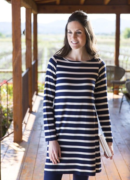 0ef7ea0912 Bamboo Dreams® Mia Tunic - Harbor Stripe