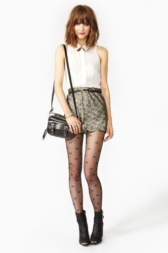 Scalloped Sequin Skirt