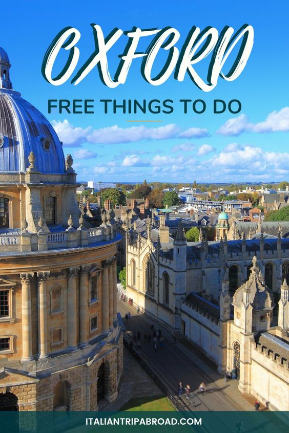 Oxford free things to do