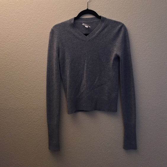 100% pure cashmere tseSAY grey v-neck sweater Super soft, 100% pure cashmere sweater. Worn very few times - was a gift. Only imperfection is the tag is falling off a little bit as pictured. TSE Sweaters V-Necks
