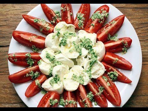 Salada Caprese ao pesto