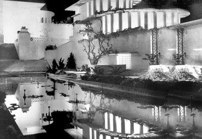 """Shangri-La,"" designed by Stephen Goosson for Lost Horizon (1937), dir. Frank Capra:"