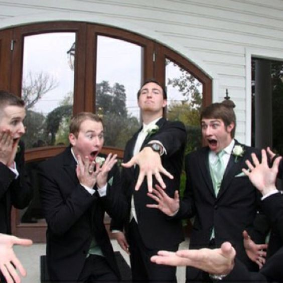 Most women are the ones who are excited to get married... while tori is excited... I can't wait to be married to the woman of my dreams! Also funny groomsmen pics!