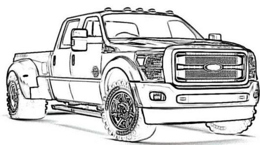 New Ford Truck Coloring Page Truck Coloring Pages Ford Truck Old Trucks