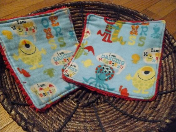 Monster Wash Cloths by UnruhlyBehaviors on Etsy