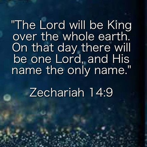 Zechariah 14:1-9 A day of the Lord is coming Jerusalem when your possessions will be plundered and divided up within your very walls. I will gather all the nations to Jerusalem to fight against it; the city will be captured the houses ransacked and the wo