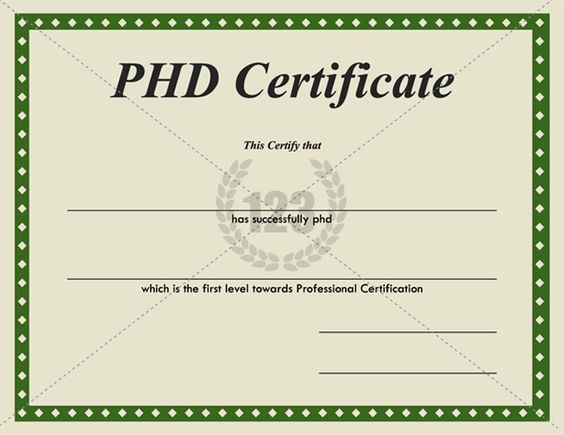 templates and certificate templates on pinterest With doctorate certificate template