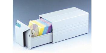 Archivador Fichero CD  con 75 fundas colores variados 17x15x32.5cm platino - 23,68€