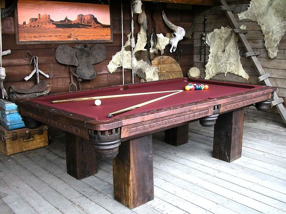 Timber Lodge Rustic Teak Pool Table By Groovystuff