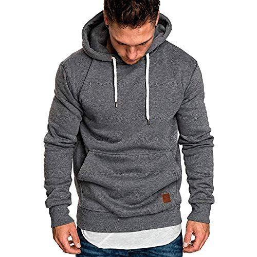 Men's Fashion Autumn Winter Sport Sweatshirt Hoodies Tops Blouse Tracksuits