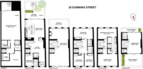 26 Downing Street Is A Sale Unit In West Village Manhattan Priced At 23 500 000 West Village How To Plan Architecture Plan