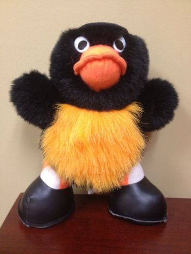 Vintage Baltimore Orioles Mascot Bird Plush Stuffed Animal