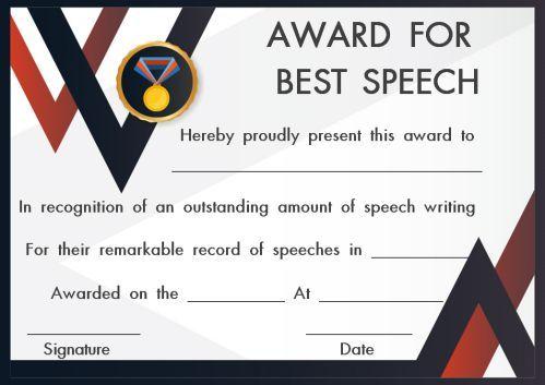 Speech Contest Winner Certificate Template 10 Free Pdf Document