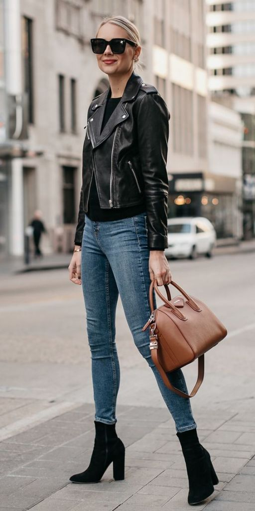 12 Leather Jacket Styles for Spring | itanndy STYLES | Leather jacket  style, Black leather jacket outfit, Leather jackets women