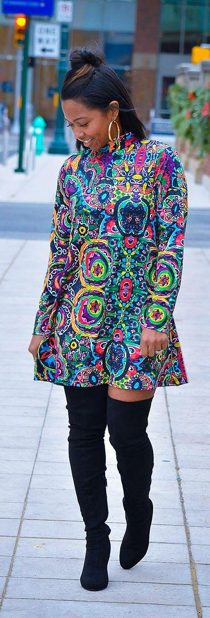 Unique Printed Dress