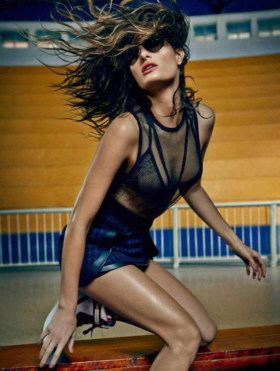 Sports Luxe | Isabeli Fontana for Harper's Bazaar Brazil June 2014 by Fabio Bartelt
